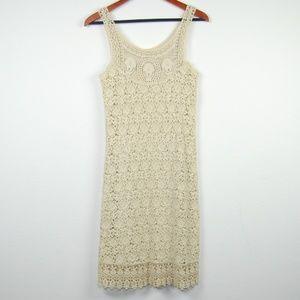 L'affair Cloud Art Dress Crochet Festival Beige XS